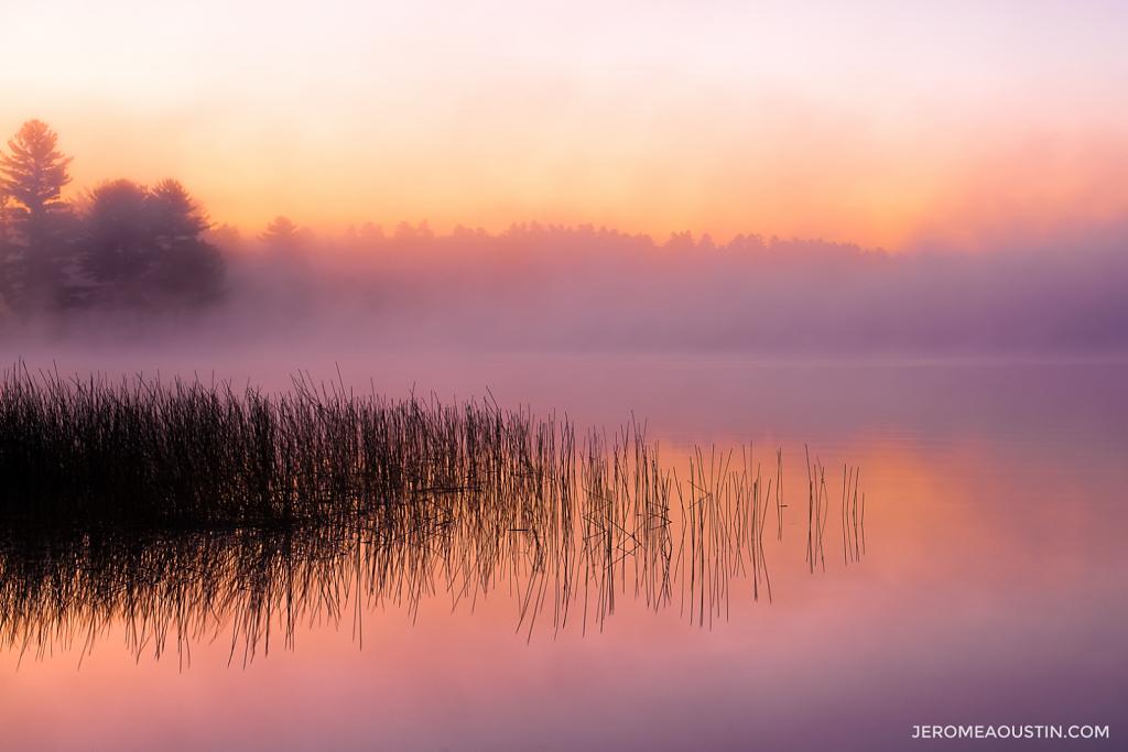 Sunrise on Lake Pleasant ⋅ Adirondacks, NY ⋅ 2009