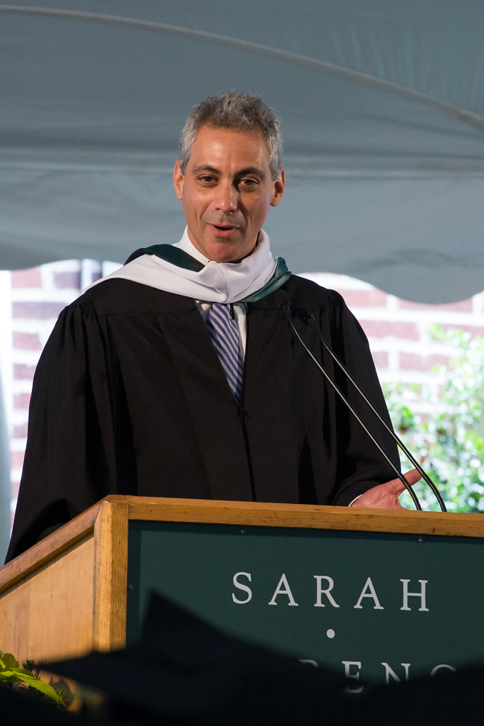Rahm Emanuel, White House Chief of Staff ⋅ Sarah Lawrence College, New York ⋅ 2009