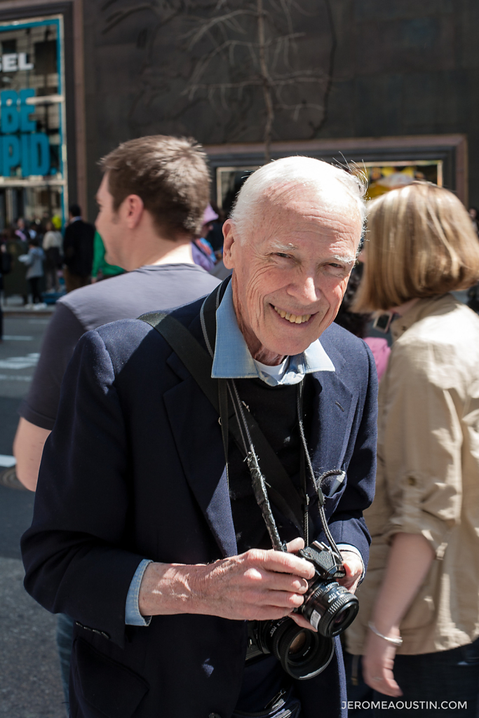Bill Cunningham, fashion photographer for the New York Times