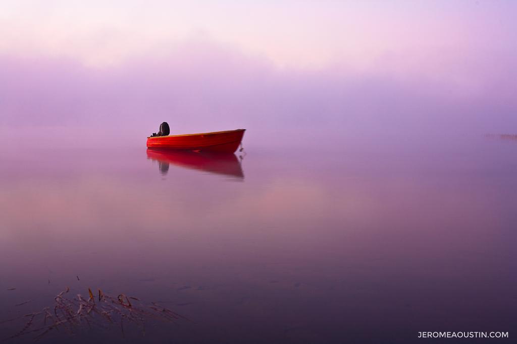 Red Boat at Dawn ⋅ Adirondacks, NY ⋅ 2009